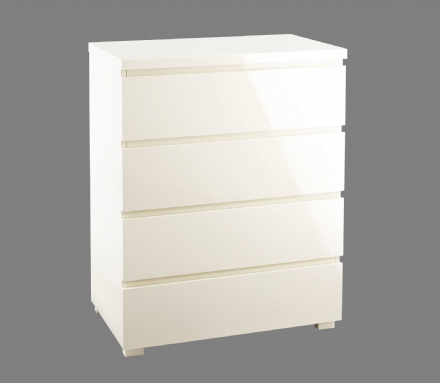 Puro 4 Drawer Chest - Cream